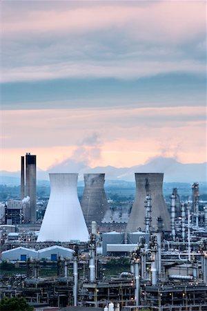 Grangemouth Petrochemical Plant West Lothian, Scotland, UK Stock Photo - Rights-Managed, Code: 700-01538905