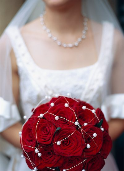 Bride Holding Bouquet Stock Photo - Premium Rights-Managed, Artist: Anne Domdey, Image code: 700-01539044