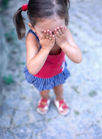 Girl Covering Eyes Stock Photo - Rights-Managed, Code: 700-01539057