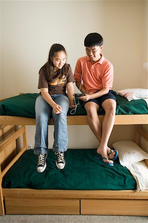 preteen thong - Teenagers Listening to MP3 Player Stock Photo - Rights-Managed, Code: 700-01540866