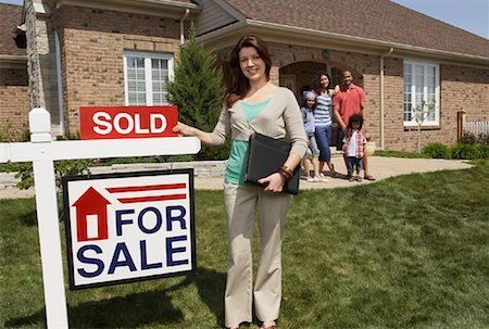 sold sign - Real Estate Agent by Sold Sign Stock Photo - Rights-Managed, Code: 700-01571980