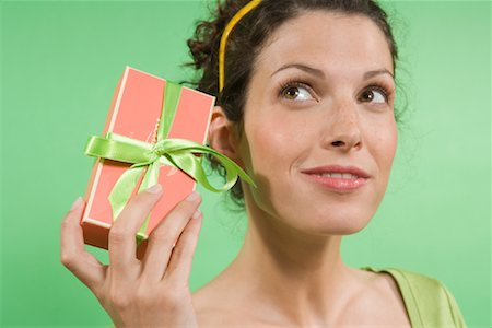 Woman Holding Gift Stock Photo - Rights-Managed, Code: 700-01586144
