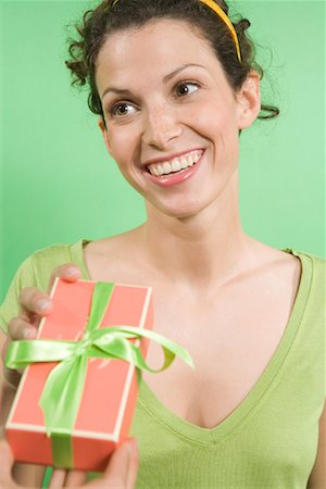 Woman Accepting Gift Stock Photo - Rights-Managed, Code: 700-01586145