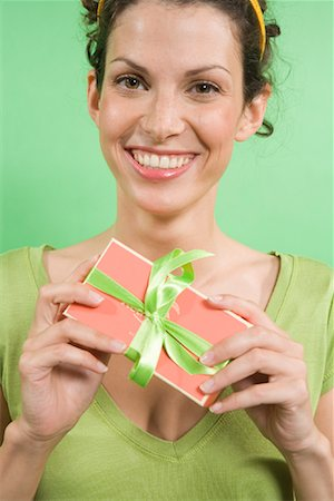 Woman Holding Gift Stock Photo - Rights-Managed, Code: 700-01586146