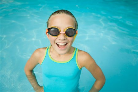 Portrait of Girl in Swimming Pool Stock Photo - Rights-Managed, Code: 700-01581909