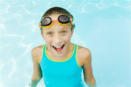 Portrait of Girl in Swimming Pool Stock Photo - Rights-Managed, Code: 700-01581911