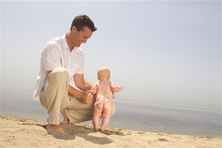 Father and Baby at Beach Stock Photo - Rights-Managed, Code: 700-01582160