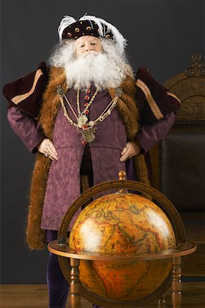 King Standing by Globe Stock Photo - Rights-Managed, Code: 700-01582204