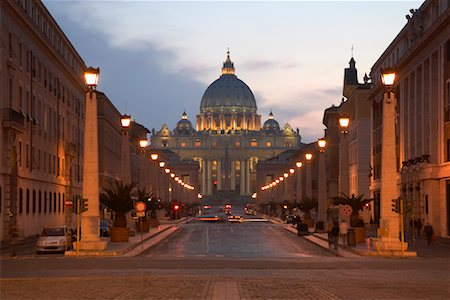 Via della Conciliazione and Saint Peter's Basilica, Rome, Italy Stock Photo - Rights-Managed, Code: 700-01595825