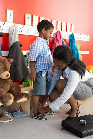 Mother and Son at Daycare Stock Photo - Rights-Managed, Code: 700-01593765