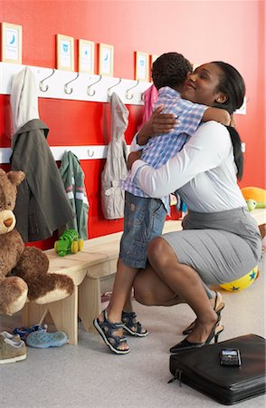 Mother and Son at Daycare Stock Photo - Rights-Managed, Code: 700-01593772