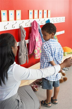 Mother and Son at Daycare Stock Photo - Rights-Managed, Code: 700-01593789