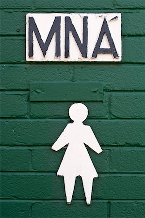Bathroom Signs Ireland irish bathroom signs stock photos - page 1 : masterfile