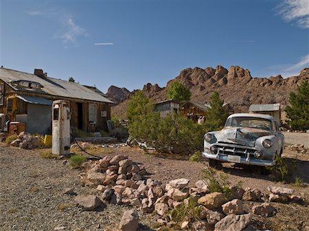 rural gas station - Old Gas Station, Eldorado Canyon, Nevada, USA Stock Photo - Rights-Managed, Code: 700-01607350