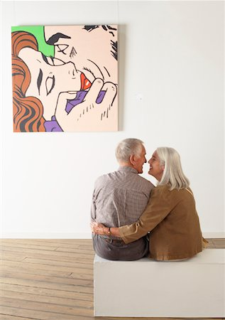 Couple in Art Gallery Stock Photo - Rights-Managed, Code: 700-01639958