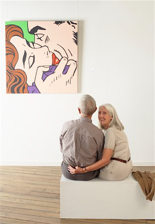 Couple in Art Gallery Stock Photo - Rights-Managed, Code: 700-01639959