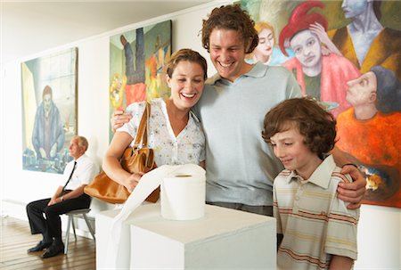 Family in Art Gallery Stock Photo - Rights-Managed, Code: 700-01639953