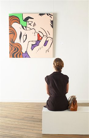 Woman in Art Gallery Stock Photo - Rights-Managed, Code: 700-01639960