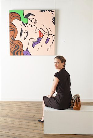 Woman in Art Gallery Stock Photo - Rights-Managed, Code: 700-01639961