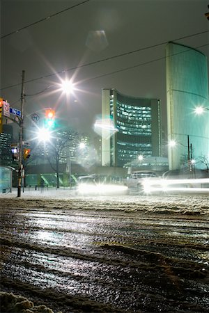 elements (weather) - Cityscape in Winter Toronto, Ontario, Canada Stock Photo - Rights-Managed, Code: 700-01630384