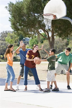 preteen thong - Family Playing Basketball Stock Photo - Rights-Managed, Code: 700-01633021