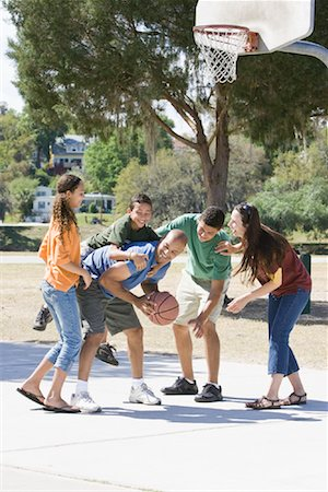 preteen thong - Family Playing Basketball Stock Photo - Rights-Managed, Code: 700-01633022