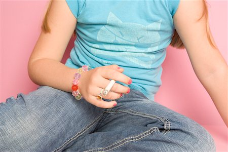 Girl Smoking Cigarette Stock Photo - Rights-Managed, Code: 700-01633215