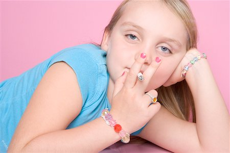 Girl Smoking Cigarette Stock Photo - Rights-Managed, Code: 700-01633210