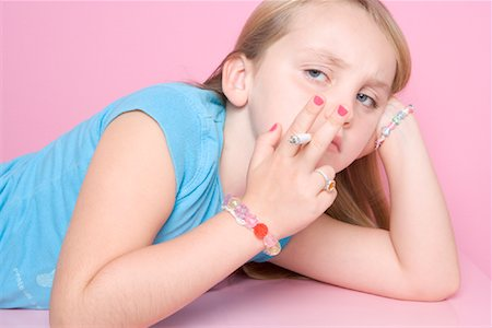 Girl Smoking Cigarette Stock Photo - Rights-Managed, Code: 700-01633212