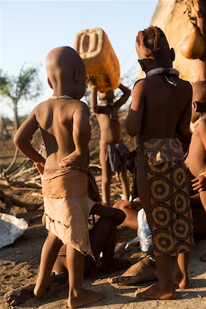 Himba Children Drinking Water, Namibia, Africa Stock Photo - Rights-Managed, Code: 700-01633229