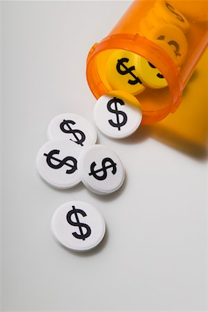 Pills with Dollar Symbol Stock Photo - Rights-Managed, Code: 700-01646080