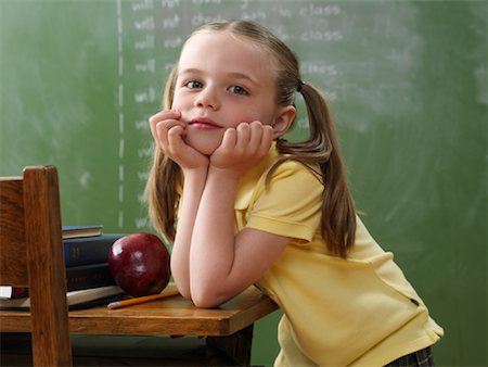 Portrait of Girl in Classroom Stock Photo - Rights-Managed, Code: 700-01646377