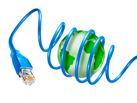 Internet Cable Wrapped Around Globe Stock Photo - Rights-Managed, Code: 700-01694249