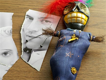 enemy - Torn Photograph and Voodoo Doll Stock Photo - Rights-Managed, Code: 700-01694280