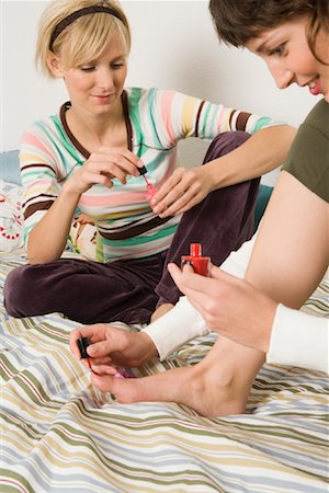 Friends Painting Nails Stock Photo - Rights-Managed, Code: 700-01694597