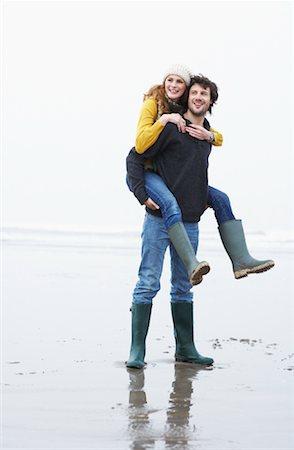Couple on Beach, Ireland Stock Photo - Rights-Managed, Code: 700-01694880
