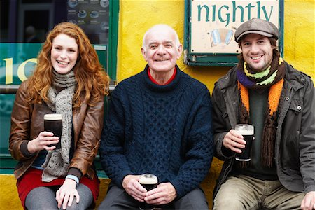 Couple and Man by Pub, Ireland Stock Photo - Rights-Managed, Code: 700-01694911