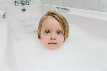 Girl in Tub Stock Photo - Rights-Managed, Code: 700-01695380