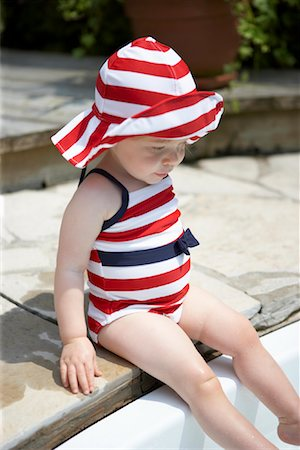 Toddler at Edge of Pool Stock Photo - Rights-Managed, Code: 700-01716287