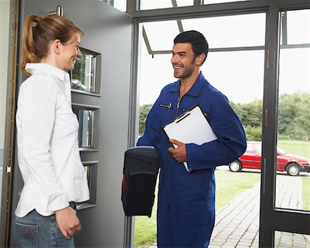 Repairman and Client Stock Photo - Rights-Managed, Code: 700-01716479