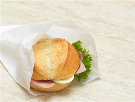 sandwich wrapper - Sandwich in Paper Bag Stock Photo - Rights-Managed, Code: 700-01716555