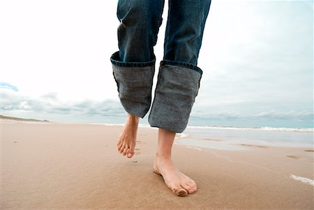 Woman's Legs Walking on Beach, Netherlands Stock Photo - Rights-Managed, Code: 700-01742697