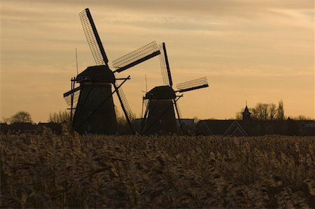 simsearch:600-00954324,k - Windmills, Kinderdijk, Netherlands Fotografie stock - Rights-Managed, Codice: 700-01742884