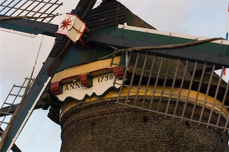 simsearch:600-00954324,k - Close-up of Windmill, Kinderdijk, Netherlands Fotografie stock - Rights-Managed, Codice: 700-01742882