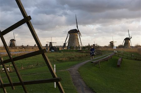 simsearch:600-00954324,k - Windmills, Kinderdijk, Netherlands Fotografie stock - Rights-Managed, Codice: 700-01742883