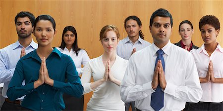 Business People in Meditative Position Stock Photo - Rights-Managed, Code: 700-01764237