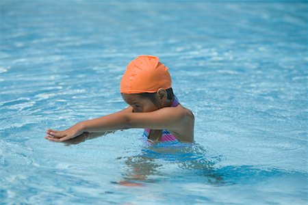 Girl Learning to Swim Stock Photo - Rights-Managed, Code: 700-01764299