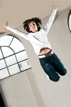 Boy Jumping Stock Photo - Rights-Managed, Code: 700-01788369