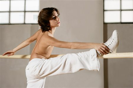 Dancer Stretching Stock Photo - Rights-Managed, Code: 700-01788375