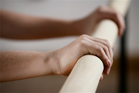 Close-up of Dancer's Hands on Bar Stock Photo - Rights-Managed, Code: 700-01788379